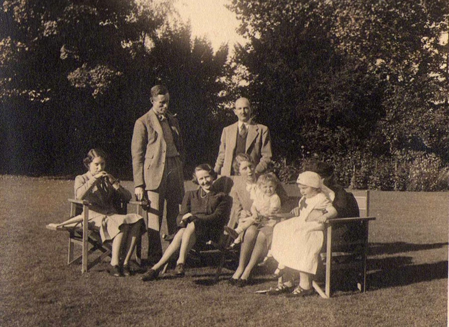 The Donald  family at home together on the 23 September 1939 for the last time
