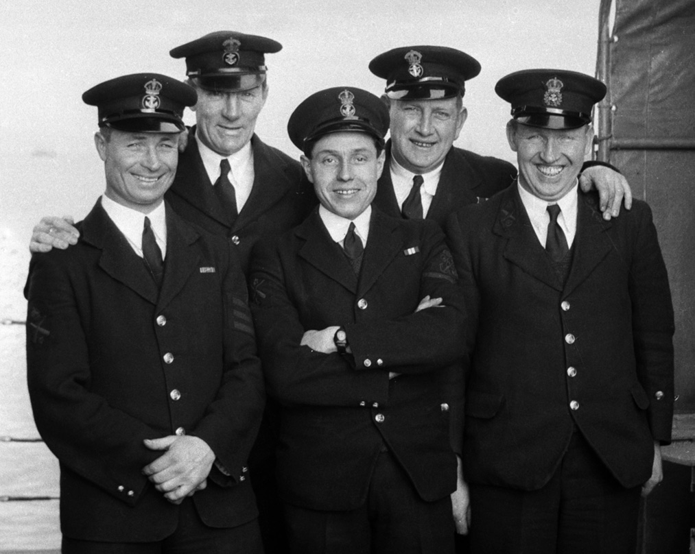 Perry Officers on HMS MIddleton