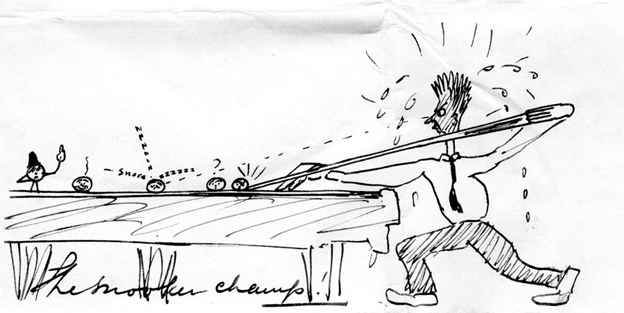 The snooker player