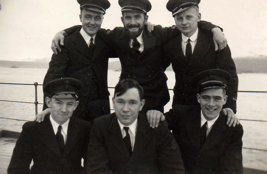 Shipmates of Don Preece on HMS Hecla, Iceland, 1941
