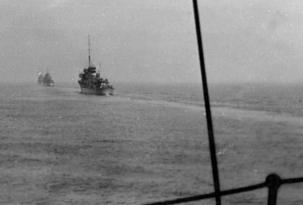 On exercises in the Firth of Forth in 1939