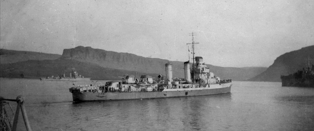 HMS Vulcan and USN destroyers, Havelfjord 1941