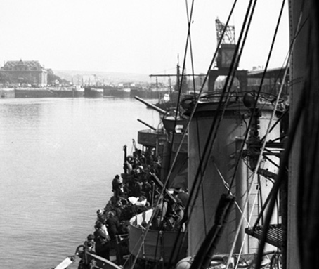 Leaving Boulogne, 22 May 1940