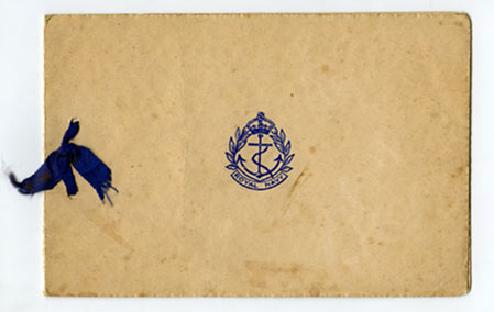 Christmas card from HMS Venomous, 1940 (p1)