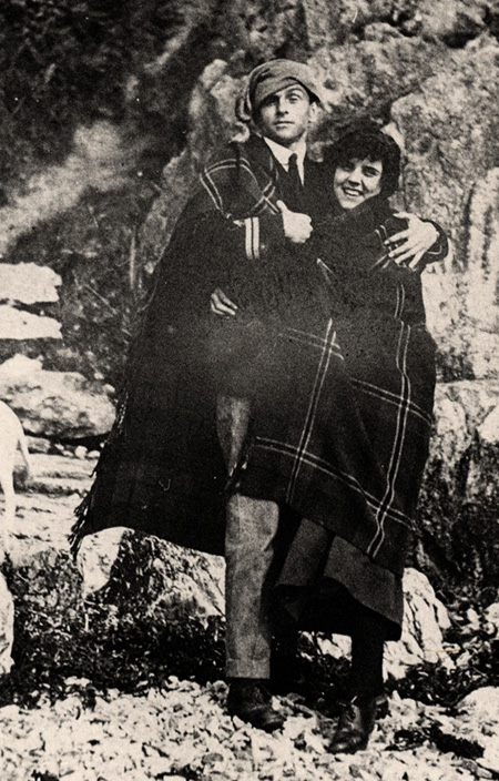 Eric ufnell on holiday in CoDonegal with his young wife, 1916