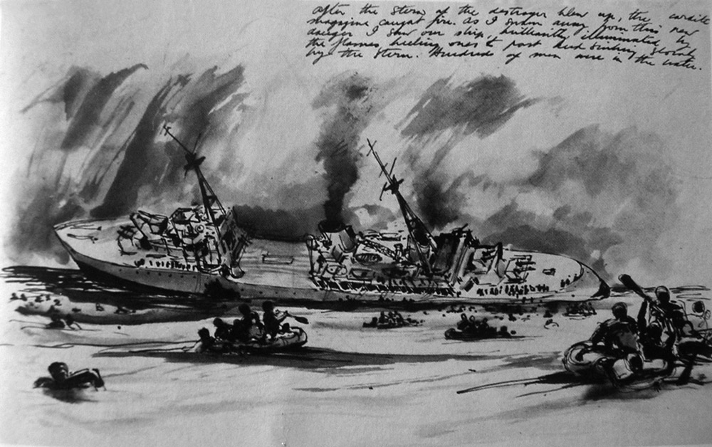 Hecla sinking, sketch vy H H Mcwilliams