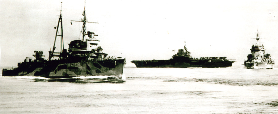 RNNS Jacob von Heemskerk exercising with the Eastern Fleet