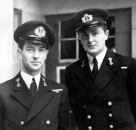 Lt Cdr HansLarive, CO of 9th MTB Flotilla and 2nd Lt Harry Jorissen, commanding MTB 204.