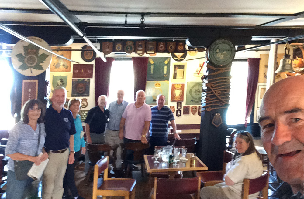 RNA Londonderry in the Crows Nest club at Saint Johns Newfoundland