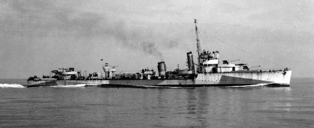 HMS Venomous as an Atlantic Escort, 1941