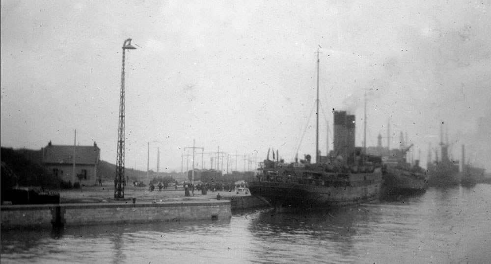 The Archangel berthed sat a French port in 1940