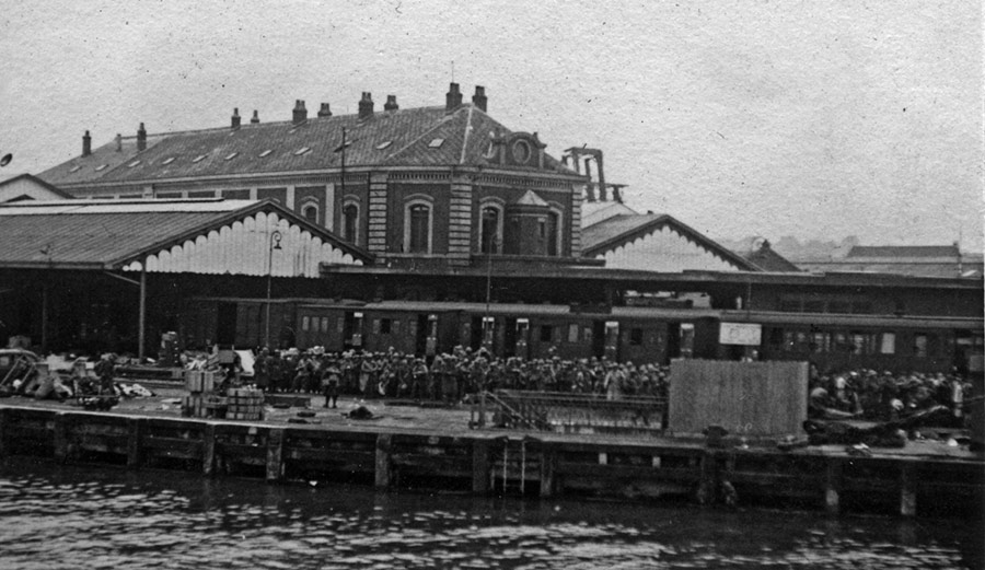 Gare Maritime, Boulogne in 22 May 1940