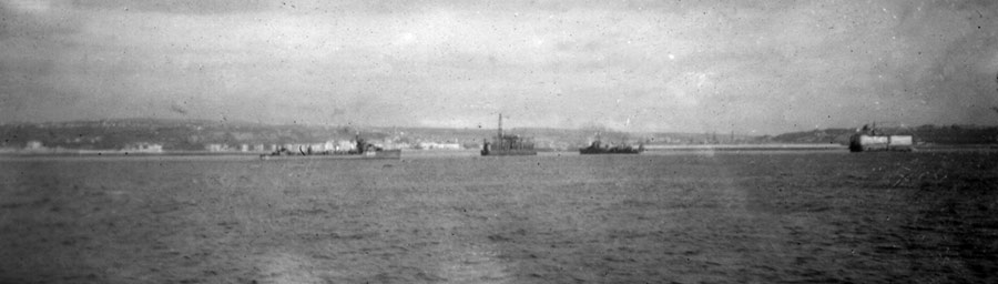 The destroyers outside Boulogne on the 23 May 1940