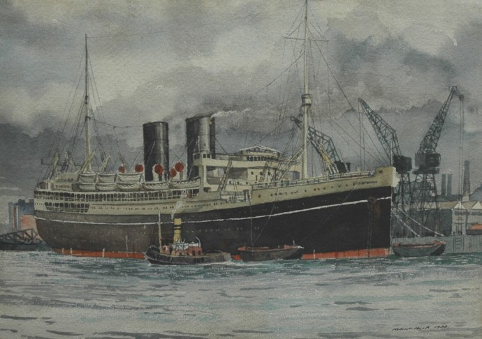 SS Parapindi painted in 1938