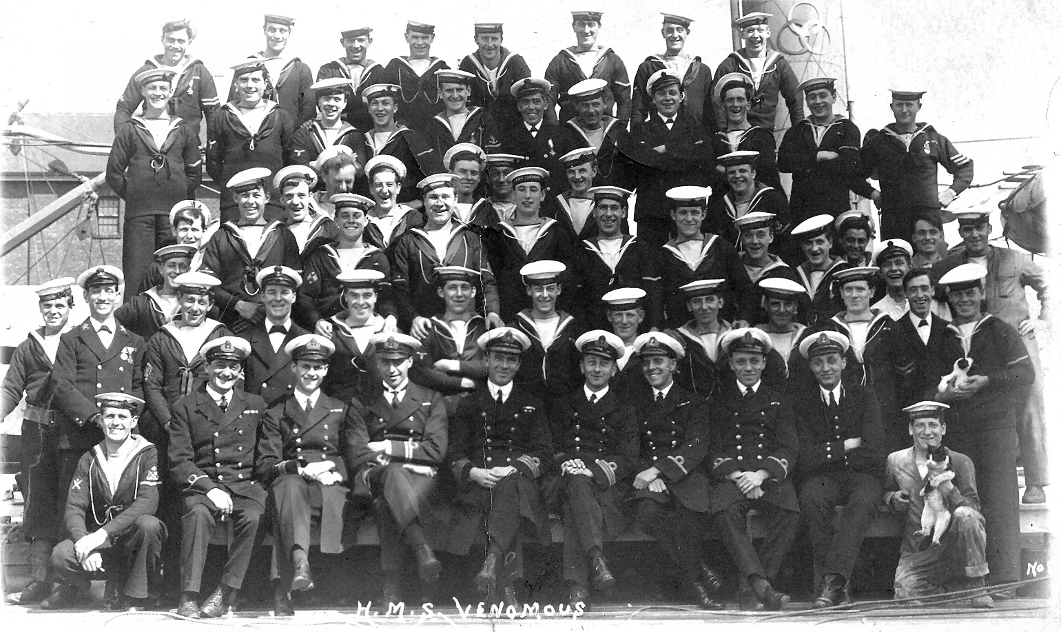 The ship's Company of HMS Venomous