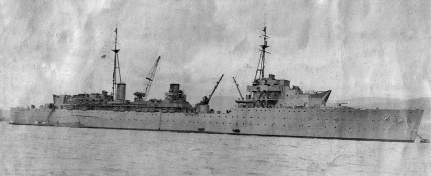 HMS Hecla on Clyde after refit