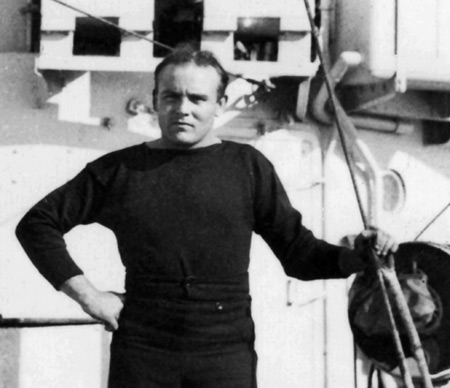 AB Tom Davis RNVR, ship's writer on HMS Active