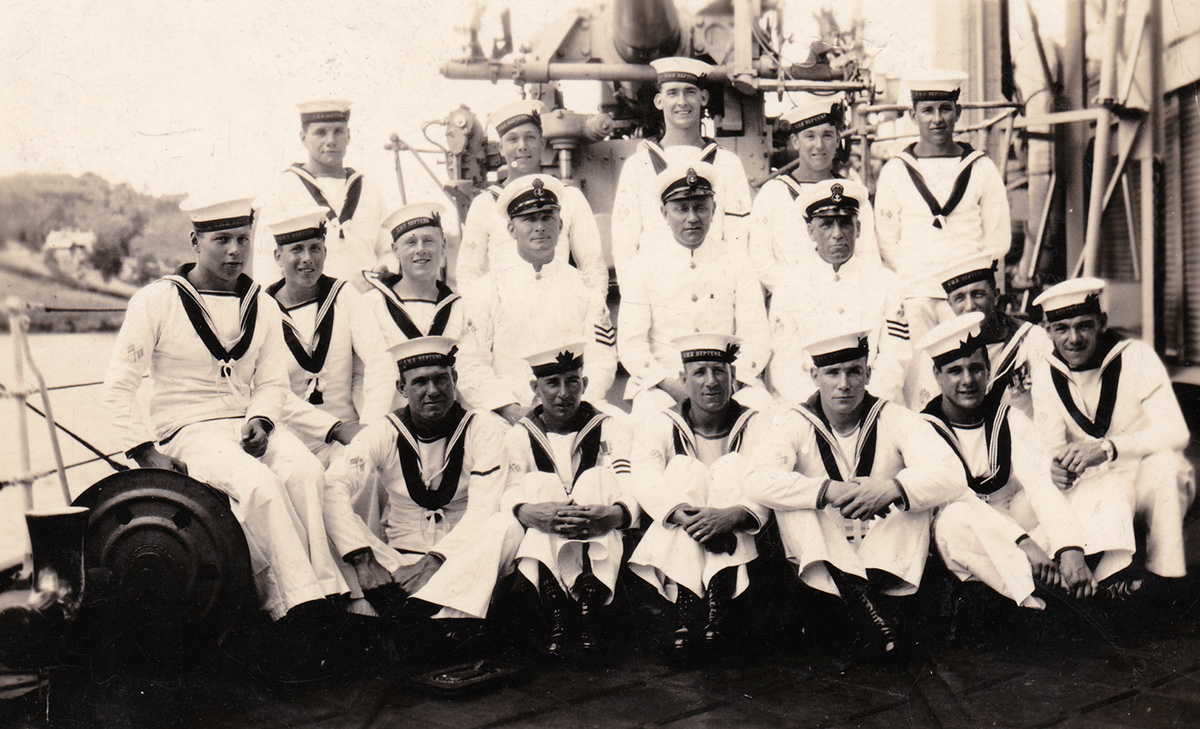 Terry Munro on HMS Neptune, St Lucia 1935