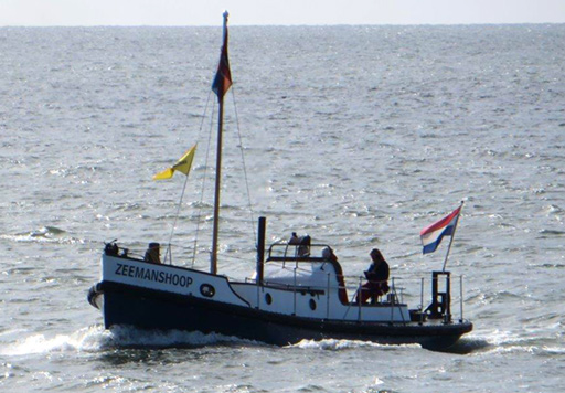 Restored ZEEMANSHOOP at sea on 13 May 2015