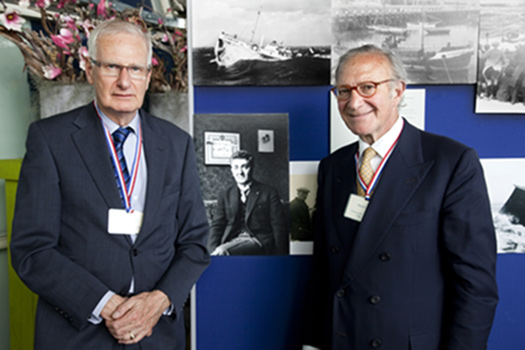 Robert Louzada (right) and Paul de Kiviet,Museum Director
