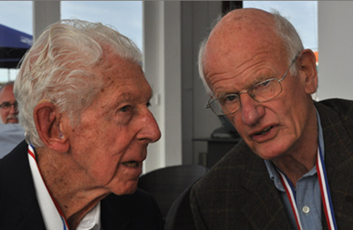 Karel Dahmen (left) and Bill Forster (right) on 13 May 2015